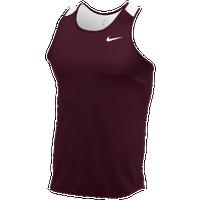 Nike Womens Running Singlet - Nike Anchor Team Dark Maroon/Team White/Team White Y43h2944