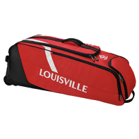 Louisville Slugger Selecet Rig Wheeled Player Bag - Red / Black