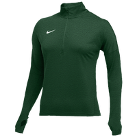 Nike Team Dry Element 1/2 Zip Top - Women's - Dark Green / White