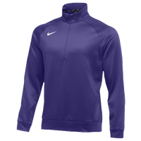 Nike Team Therma 1/4 Zip Top - Men's - Purple / Purple