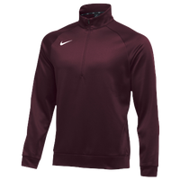Nike Team Therma 1/4 Zip Top - Men's - Maroon / Maroon