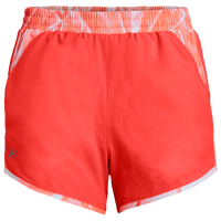 Under Armour HeatGear Fly By Run Shorts - Women's - Pink / White