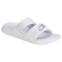 Nike Benassi Duo Ultra Slide - Women's - White / Silver