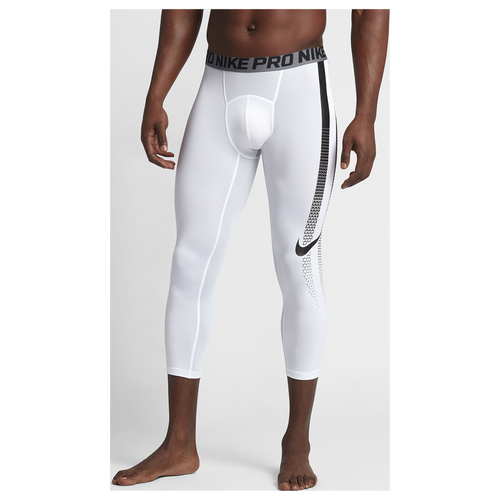 Nike Hypercool 3/4 Compression Tights - Men's - Football - Clothing - White /Black