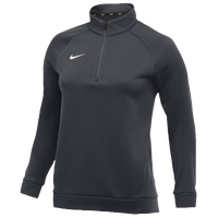 Nike Team Therma 1/4 Zip Top - Women's - Grey / Grey
