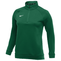 Nike Team Therma 1/4 Zip Top - Women's - Dark Green / Dark Green