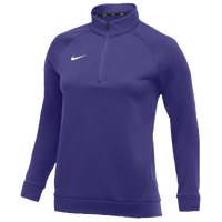 Nike Team Therma 1/4 Zip Top - Women's - Purple / Purple