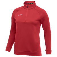 Nike Team Therma 1/4 Zip Top - Women's - Red / Red