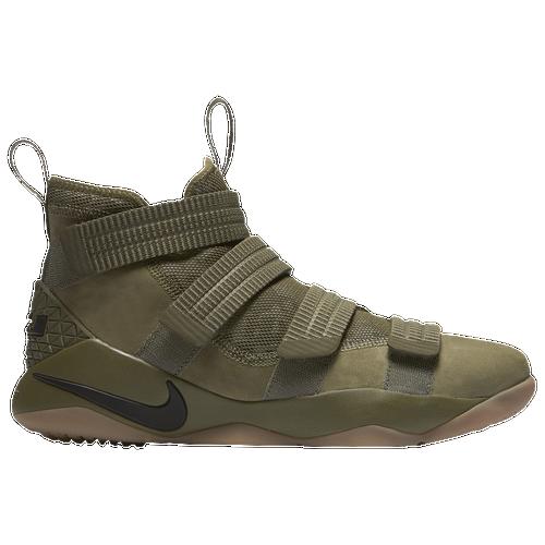 Nike LeBron Soldier 11 SFG - Men\u0027s - Basketball - Shoes - Lebron James -  Olive/Gum/Camo
