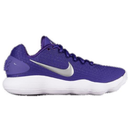 watch fdd6f 146e1 ... ireland nike react hyperdunk 2017 low womens basketball shoes court  purple metallic silver white 55a4b 53807