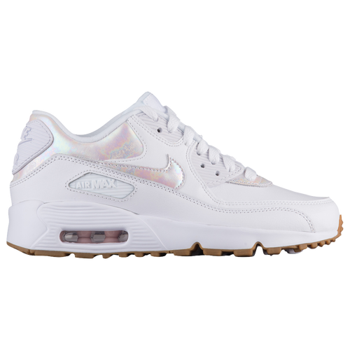 Nike Air Max 90 - Girls' Grade School - Casual - Shoes - White/White/Prism  Pink/Gum Light Brown
