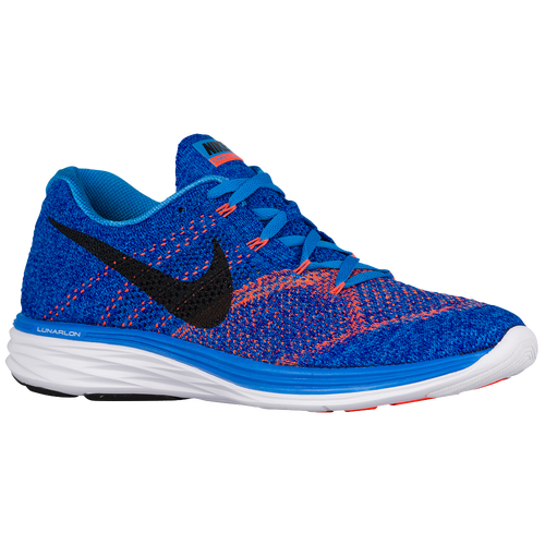 Nike Flyknit Lunar 3 - Men's - Running - Shoes - Photo Blue/Concord/White/ Black