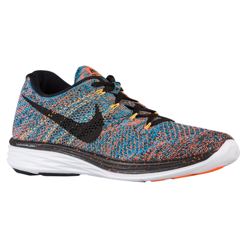 Nike Flyknit Lunar 3 - Men's - Running - Shoes - Total Orange/Blue  Lagoon/Laser Orange/Black