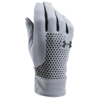 Under Armour ColdGear Threadborne Run Gloves - Men's - Grey / Black