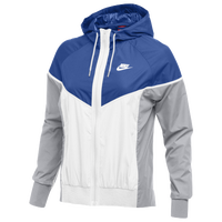 Nike Team NSW Windrunner Jacket - Women's - Blue / White