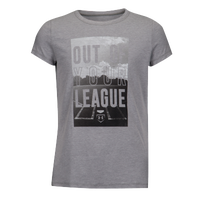 Under Armour Out of Your League Short Sleeve T-Shirt - Girls' Grade School - Grey / White