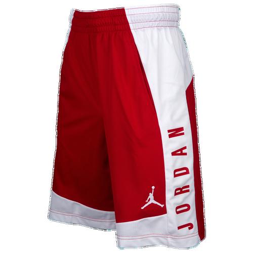 Jordan AJ Shorts - Men's - Basketball - Clothing - Gym Red/White