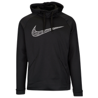 Nike Therma Graphic Hoodie - Men's - Black / White
