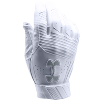 Under Armour Clean-up Batting Gloves - Men's - All White / White