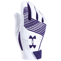 Under Armour Clean-up Batting Gloves - Men's - Purple / White