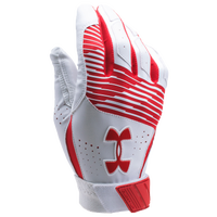 Under Armour Clean-up Batting Gloves - Men's - Red / White