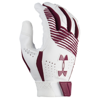 Under Armour Clean-up Batting Gloves - Men's - Maroon / White