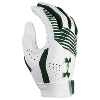 Under Armour Clean-up Batting Gloves - Grade School - White / Dark Green