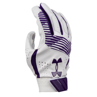 Under Armour Clean-up Batting Gloves - Grade School - Purple / White