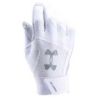 Under Armour Yard Batting Gloves - Men's - All White / White