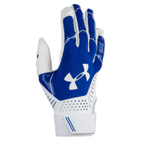 Under Armour Motive Fastpitch Batting Gloves - Women's - Blue / White
