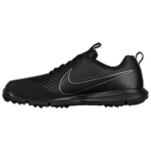 Nike Explorer 2 Golf Shoes - Men's - Golf - Shoes - Black/Black-Metallic/ Dark Grey