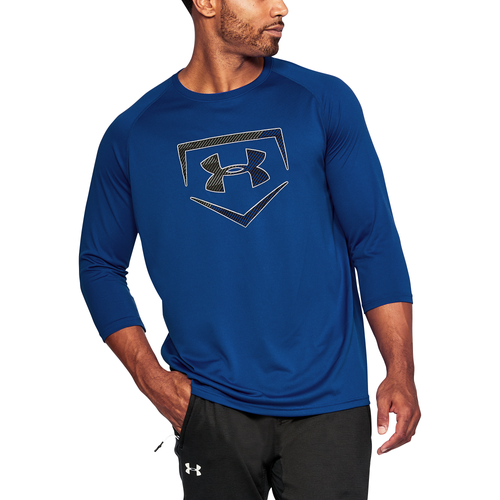 Under Armour Baseball Logo 3/4 Sleeve T-Shirt - Men's Baseball - Royal/Black 99619400