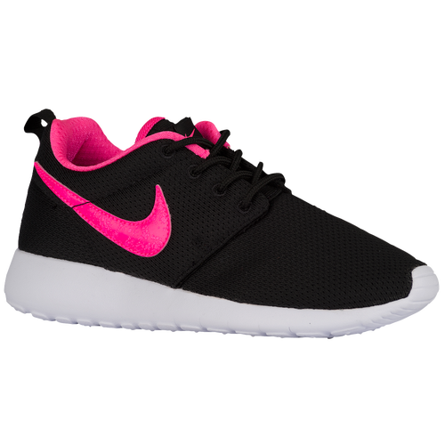 Roshe Run Grade School Running Shoe Pink Black
