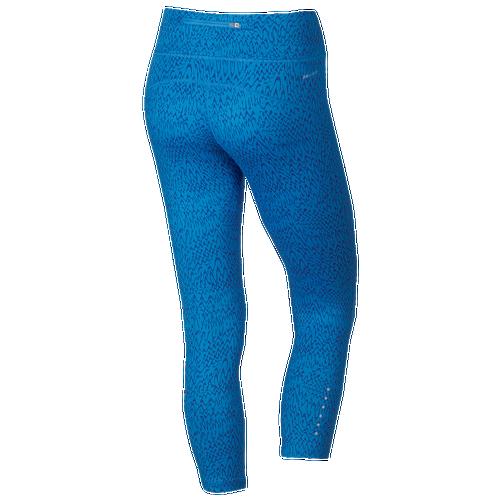 180cd4fca3 Nike Dri FIT Epic Run Crop Womens Running Clothing Light Photo Blue Deep  Royal Blue Reflective