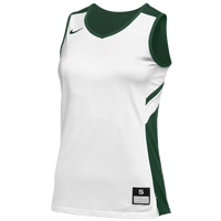 Nike Team Reversible Game Jersey - Women's - White / Dark Green