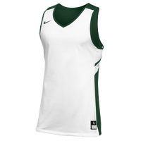 Nike Team Reversible Game Jersey - Men's - White / Dark Green