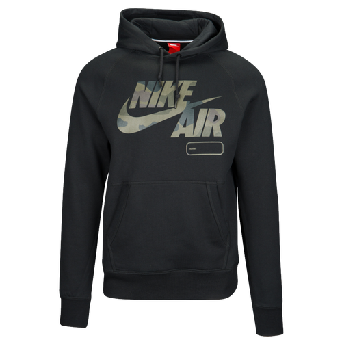 Nike Graphic Hoodie - Men's Casual - Black/Khaki/Green A093101