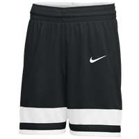 Nike Team National Shorts - Girls' Grade School - Black / White