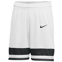 Nike Team National Shorts - Girls' Grade School - White / Black
