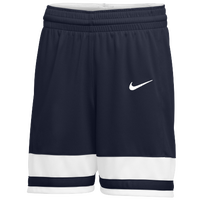 Nike Team National Shorts - Girls' Grade School - Navy / White