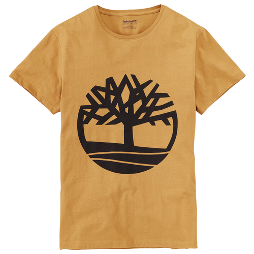 Timberland Basic Tree T Shirt Mens Casual Clothing Wheatblack