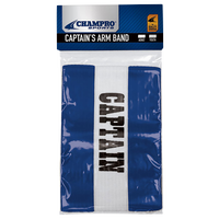 Champro Captain's Arm Bands - Blue / White