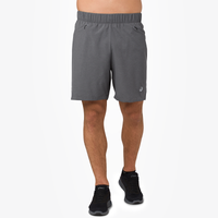 "ASICS® 7"" 2-In-1 Shorts - Men's - Grey"