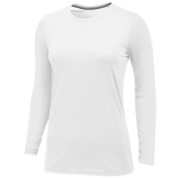 Nike Team Core LS Tee - Women's - All White / White