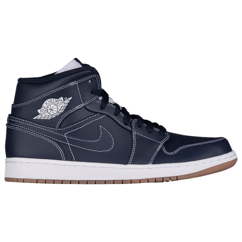 Jordan AJ1 Mid - Men\u0027s - Navy / White