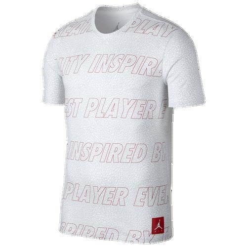Jordan Retro 3 T-Shirt - Men's Basketball - White A8939100
