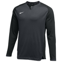 Nike Team BP Crew - Men's - Grey / White