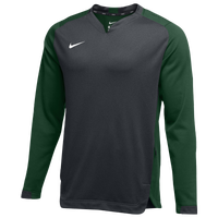 Nike Team BP Crew - Men's - Grey / Dark Green