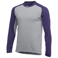 Nike Team All Day Baseball Top - Men's - Grey / Purple