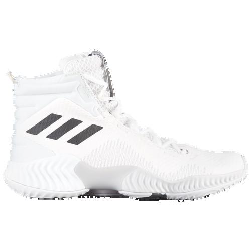 adidas Pro Bounce Mid 2018 - Men s - Basketball - Shoes - White Black b9d99241ba19